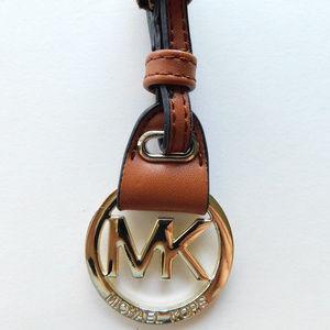 Michael Kors leather purse charm key fob